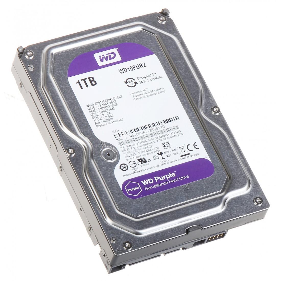 HDD PRE DVR HDD-WD10PURZ 1TB 24/7 WESTERN DIGITAL