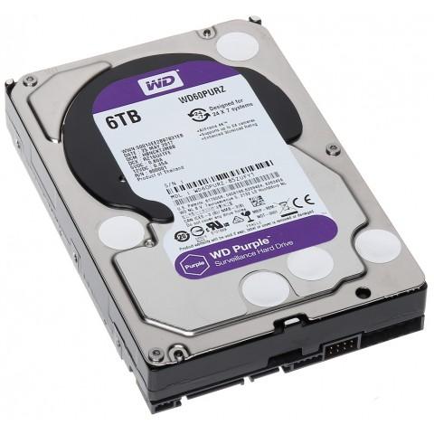 HDD PRE DVR HDD-WD60PURZ 6TB 24/7 WESTERN DIGITAL