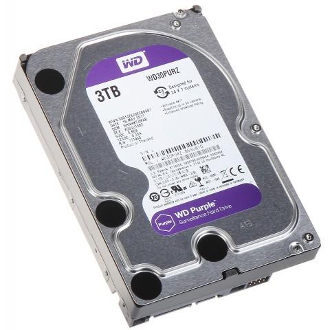 HDD PRE DVR HDD-WD30PURZ 3TB 24/7 WESTERN DIGITAL