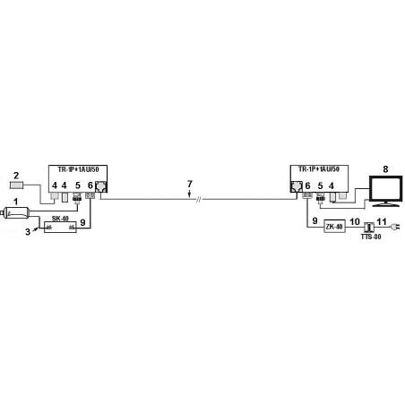 VIDEO-AUDIO BALUN TR-1P+1AU/50