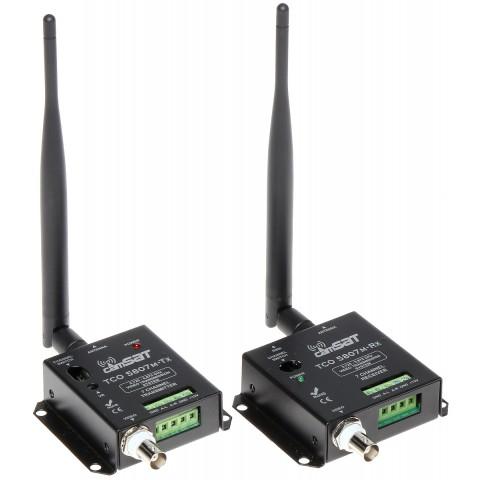 SADA PRE BEZDRÔTOVÝ PRENOS PAL 5.8 GHz TCO-5807M KOMPLET TXRX CAMSAT