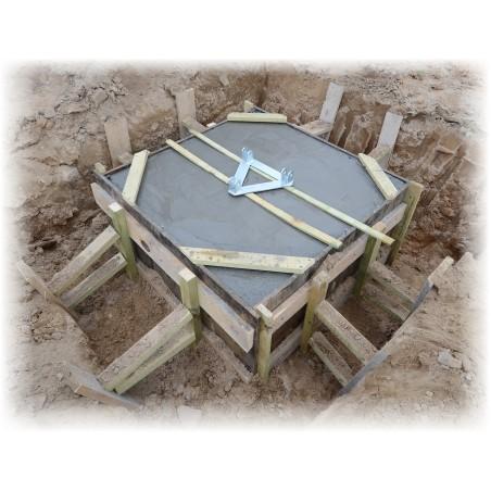 Zaliate základy stožiaru s ponorenou kotvou a založeným podstavcom