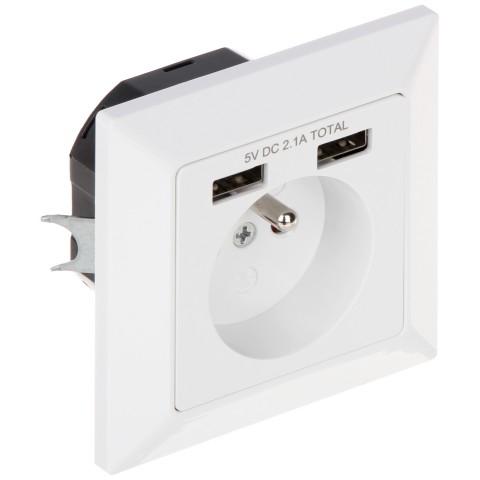 SAMOSTATNÁ ZÁSUVKA SO ZDROJOM USB OR-AE-13140 230 V 16 A ORNO