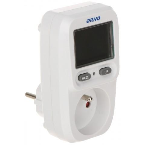 WATTMETER, KALKULACKA ENERGIE S LCD DISPLEJOM OR-WAT-419 ORNO