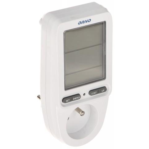 WATTMETER, KALKULACKA ENERGIE S LCD DISPLEJOM OR-WAT-435 ORNO
