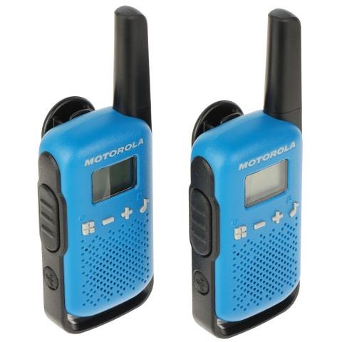 SET OF 2 PMR RADIOS MOTOROLA-T42 446.1 MHz ... 446.2 MHz