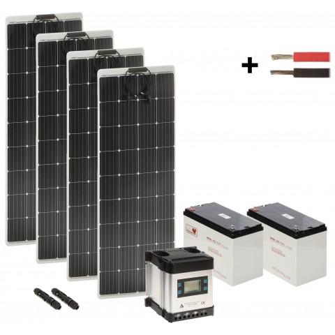 SOLAR KIT SP-KIT-4X160/2X80/MPPT-LCD 1730 Wh