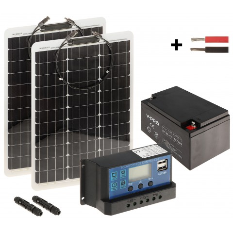 SOLAR KIT SP-KIT-2X50/26/PWM 225 Wh