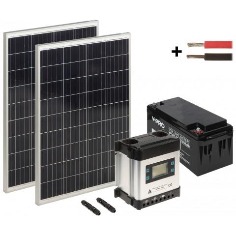 SOLAR KIT SP-KIT-2X110/65/MPPT-LCD 590 Wh